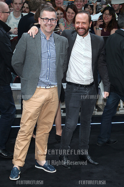 Chris Steed and Steve Webb arriving for the Avengers: Age Of Ultron premiere, at Westfield Shepherd's Bush, London. 21/04/2015 Picture by: Alexandra Glen / Featureflash