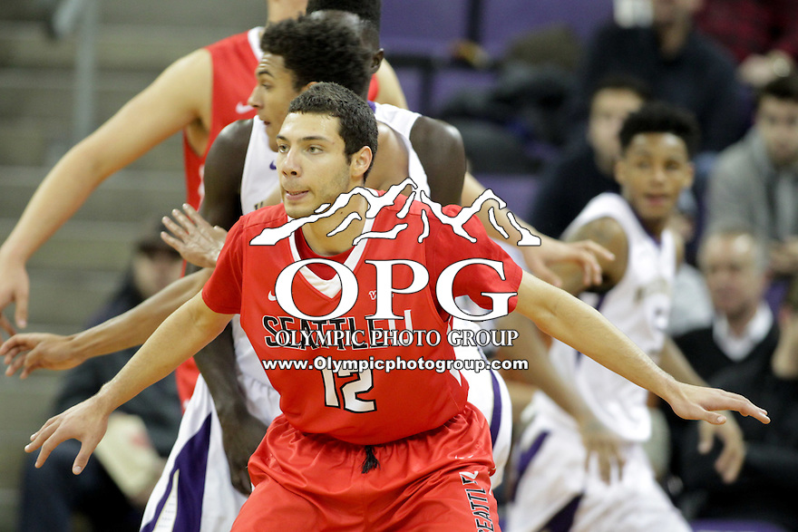 DEC 22, 2015:  Seattle University's Jadon Cohee against Washington. Washington defeated Seattle University 79-68 at Alaska Airlines Arena in Seattle, WA.