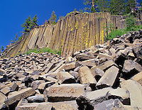 Columnar jointing at Devil's Postpile National Monument. California.