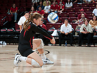 STANFORD, CA - September 2, 2010: Gabi Ailes during a volleyball match against UC Irvine in Stanford, California. Stanford won 3-0.