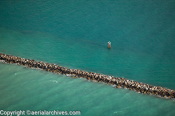 aerial photograph breakwater Miami Beach, Florida