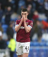 West Ham United's Declan Rice<br /> <br /> Photographer Rob Newell/CameraSport<br /> <br /> The Premier League - Cardiff City v West Ham United - Saturday 9th March 2019 - Cardiff City Stadium, Cardiff<br /> <br /> World Copyright © 2019 CameraSport. All rights reserved. 43 Linden Ave. Countesthorpe. Leicester. England. LE8 5PG - Tel: +44 (0) 116 277 4147 - admin@camerasport.com - www.camerasport.com
