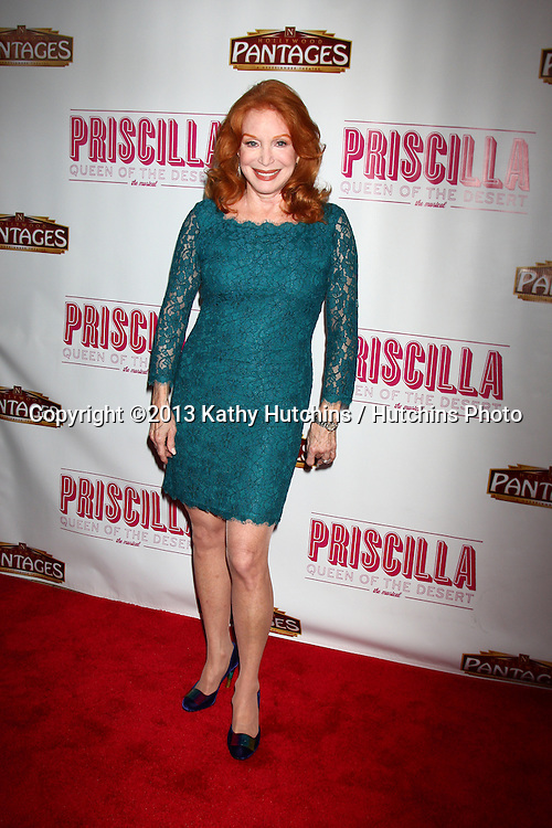"LOS ANGELES - MAY 29:  Sondra Currie arrives at  the ""Priscilla Queen of the Desert"" Play Opening at the Pantages Theater on May 29, 2013 in Los Angeles, CA"