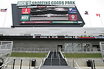 6 April 2007: View of the main videoboard from field level, at the north end of the stadium. The videoboard is showing a photo of the east side stands. The stadium at Dick's Sporting Goods Park in Denver, Colorado is ready for the season opener between DC United and the Colorado Rapids to be played Saturday, April 7.