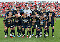 The Philadelphia Union starting eleven during an MLS game between the Philadelphia Union and the Toronto FC at BMO Field in Toronto on May 28, 2011..The Philadelphia Union won 6-2..
