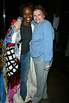Carole Shelley and Kisha Howard (Gypsy Robe Winner) Attending the Opening Night Gypsy Robe Ceremony  for the New Broadway Musical, WICKED ( The Untold Story of the Witches Of Oz ), at the Gershwin Theatre in New York City.<br />