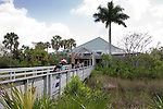 The Royal Palm Visitor Center is built on a harwood hammock on the edge of the Everglades.
