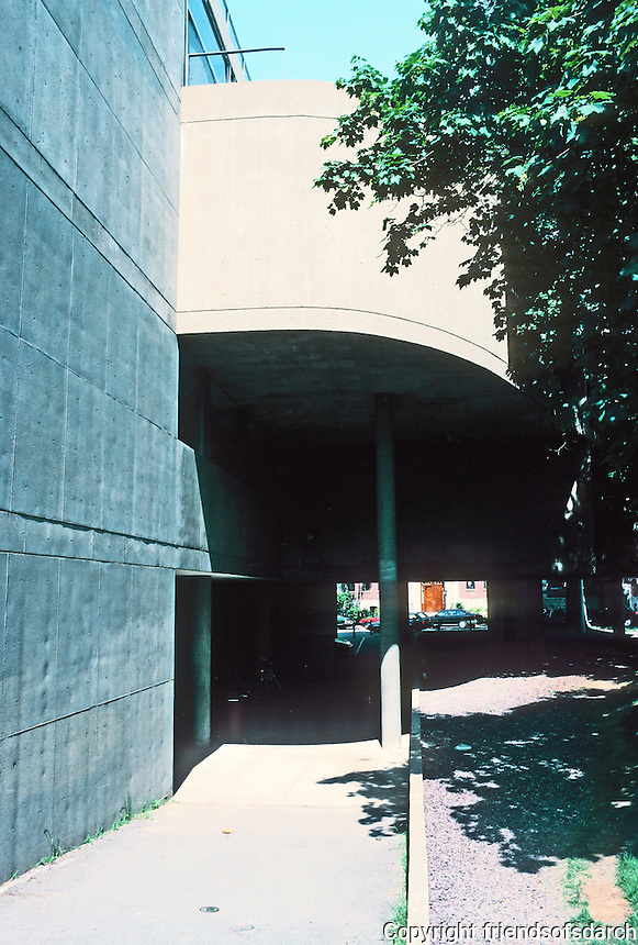 Le Carbusier: Carpenter Center--entrance to the south. Main Entrance. President Nathan Pusey wanted it here to provide direct access to Faculty Club.