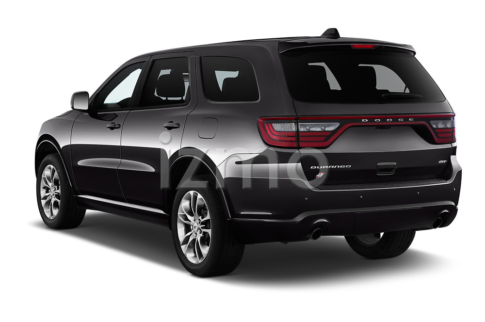 Car pictures of rear three quarter view of a 2019 Dodge Durango GT 5 Door SUV angular rear