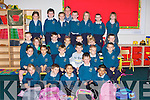 LEARNING: Teacher Grace Fitzgerald with her new junior infants class of Holy Family National School, Rathmore, enjoying their first week of school.   Copyright Kerry's Eye 2008