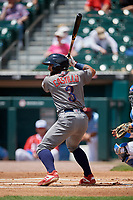 Lehigh Valley IronPigs Ali Castillo (3) at bat during an International League game against the Buffalo Bisons on June 9, 2019 at Sahlen Field in Buffalo, New York.  Lehigh Valley defeated Buffalo 7-6 in 11 innings.  (Mike Janes/Four Seam Images)