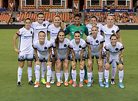 Houston, TX - Saturday July 08, 2017: Portland Thorns FC Starting XI pose for a team photo prior to a regular season National Women's Soccer League (NWSL) match between the Houston Dash and the Portland Thorns FC at BBVA Compass Stadium.