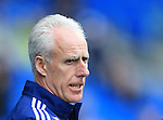 Ipswich's Mick McCarthy looks on during the Sky Bet Championship League match at The Cardiff City Stadium.  Photo credit should read: David Klein/Sportimage