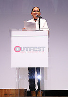 """LOS ANGELES, CA- Lucy Mukerjee-Brown, At 2017 Outfest Los Angeles LGBT Film Festival - Closing Night Gala Screening Of """"Freak Show"""" at The Theatre at Ace Hotel, California on July 16, 2017. Credit: Faye Sadou/MediaPunch"""