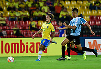 BUCARAMANGA - COLOMBIA, 06-02-2020: Guga Claudio Rodrigues de Brasil en acción durante partido entre Brasil U-23 Y Uruguay U-23 por el cuadrangular final como parte del torneo CONMEBOL Preolímpico Colombia 2020 jugado en el estadio Alfonso Lopez en Bucaramanga, Colombia. / Guga Claudio Rodrigues of Brazil in action during the match between Brazil U-23 and Uruguay U-23 for the final quadrangular as part of CONMEBOL Pre-Olympic Tournament Colombia 2020 played at Alfonso Lopez stadium in Bucaramanga, Colombia. Photo: VizzorImage / Julian Medina / Cont