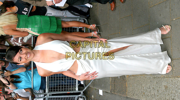 LISA SCOTT LEE.Glamour Magazine's Women of the Year Awards 2004,.London, 8th June 2005..full length white halterneck cut out revealing dress sides split slit.Ref: BR.www.capitalpictures.com.sales@capitalpictures.com.©Capital Pictures.