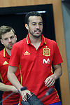 Spain's Pedro Rodriguez (r) and Asier Illarramendi after training session. March 21,2017.(ALTERPHOTOS/Acero)
