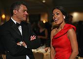 Actress Rosario Dawson chats with CNN's Mark Whittaker at the annual White House Correspondent's Association Gala at the Washington Hilton Hotel, Washington, DC, Saturday, April 30, 2011..Credit: Martin Simon / Pool via CNP