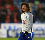 Ethan Ampadu of Chelsea warms up during the premier league match at the John Smith's Stadium, Huddersfield. Picture date 12th December 2017. Picture credit should read: Simon Bellis/Sportimage