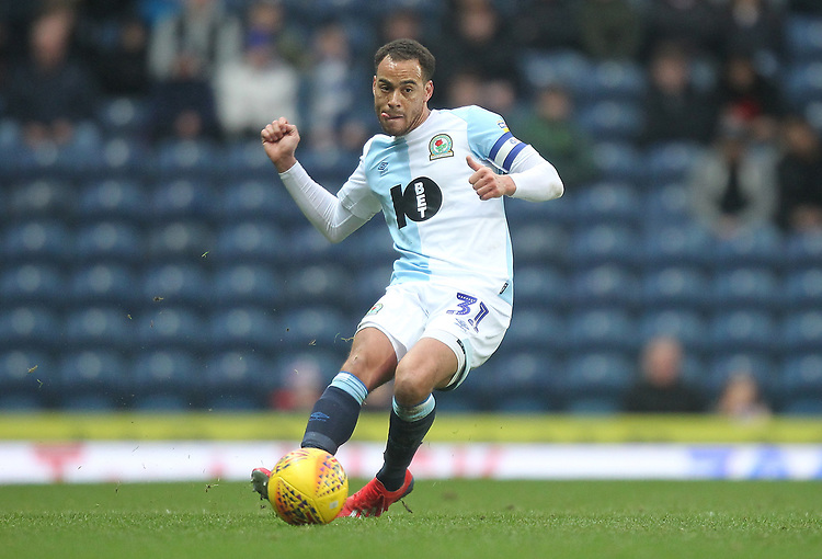 Blackburn Rovers Elliott Bennett<br /> <br /> Photographer Mick Walker/CameraSport<br /> <br /> The EFL Sky Bet Championship - Blackburn Rovers v Ipswich Town - Saturday 19 January 2019 - Ewood Park - Blackburn<br /> <br /> World Copyright &copy; 2019 CameraSport. All rights reserved. 43 Linden Ave. Countesthorpe. Leicester. England. LE8 5PG - Tel: +44 (0) 116 277 4147 - admin@camerasport.com - www.camerasport.com