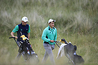 Charlie Denvir and Max Kennedy of Ireland during Day 2 / Foursomes of the Boys' Home Internationals played at Royal Dornoch Golf Club, Dornoch, Sutherland, Scotland. 08/08/2018<br /> Picture: Golffile | Phil Inglis<br /> <br /> All photo usage must carry mandatory copyright credit (&copy; Golffile | Phil Inglis)