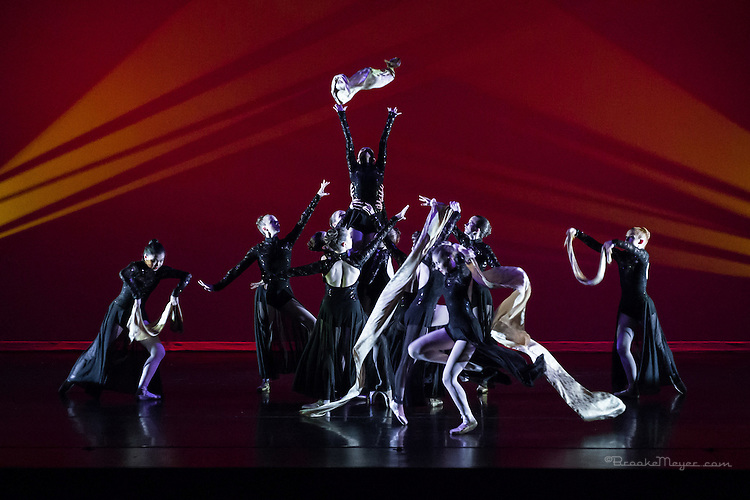 """Evening Performance of """"Invisible Walls""""  Choreography by Leah Copley Summers.  Production of Cary Ballet Company, 18th Annual Spring Gala."""