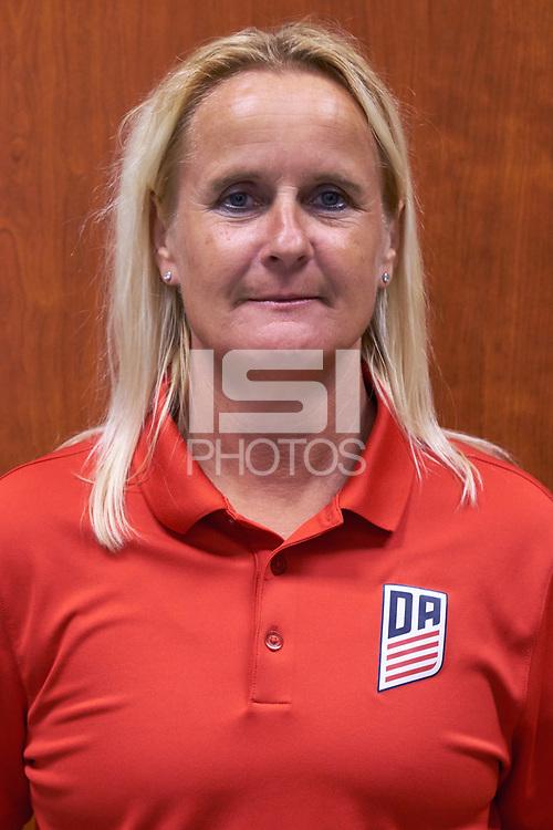 Westfield, IN - June 23, 2017: 2017 U.S. Soccer Girls Development Academy Technical Advisor's photoshoot.