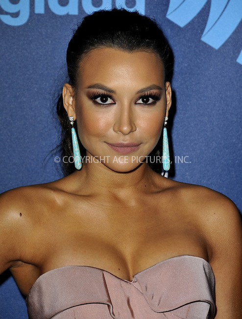 WWW.ACEPIXS.COM......April 20, 2013, Los Angeles, CA.....Naya Rivera arriving at the 24th Annual GLAAD Media Awards held at the JW Marriott Los Angeles at L.A. LIVE on April 20, 2013 in Los Angeles, California. ..........By Line: Peter West/ACE Pictures....ACE Pictures, Inc..Tel: 646 769 0430..Email: info@acepixs.com