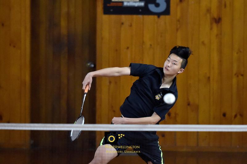 Badminton - CSW Open Singles Champs at Hataitai, Wellington, New Zealand on Wednesday 6 July 2016. <br /> Photo by Masanori Udagawa. <br /> www.photowellington.photoshelter.com.