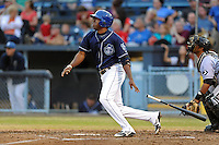 Asheville Tourists left fielder Francisco Sosa #29 swings at a pitch during a game against the  Kannapolis Intimidators at McCormick Field on May 9, 2013 in Asheville, North Carolina. The Intimidators won the game 13-12. (Tony Farlow/Four Seam Images).