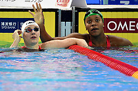 HOSSZU Katinka HUN Gold Medal, ATKINSON Alia JAM Bronze Medal <br /> Women's 100m Individual Medley <br /> Hangh Zhou 14/12/2018 <br /> Hang Zhou Olympic & International Expo Center <br /> 14th Fina World Swimming Championships 25m <br /> Photo Andrea Staccioli/ Deepbluemedia /Insidefoto