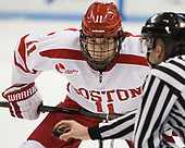 Patrick Curry (BU - 11) - The Boston University Terriers defeated the University of Massachusetts Minutemen 3-1 on Friday, February 3, 2017, at Agganis Arena in Boston, Massachusetts.The Boston University Terriers defeated the visiting University of Massachusetts Amherst Minutemen 3-1 on Friday, February 3, 2017, at Agganis Arena in Boston, MA.