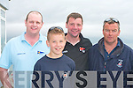 SAILING: Enjoying the sailing at the Tralee Bay Sailing Club Regatta on Sunday l-r: Paddy Griffin, Fionn and Rory McGibney all from Talbert and Bernard Whealan, Cliffton, Galway.   Copyright Kerry's Eye 2008