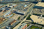 AErial view of the Holland Tunnel entering into Manhattan from New Jersey