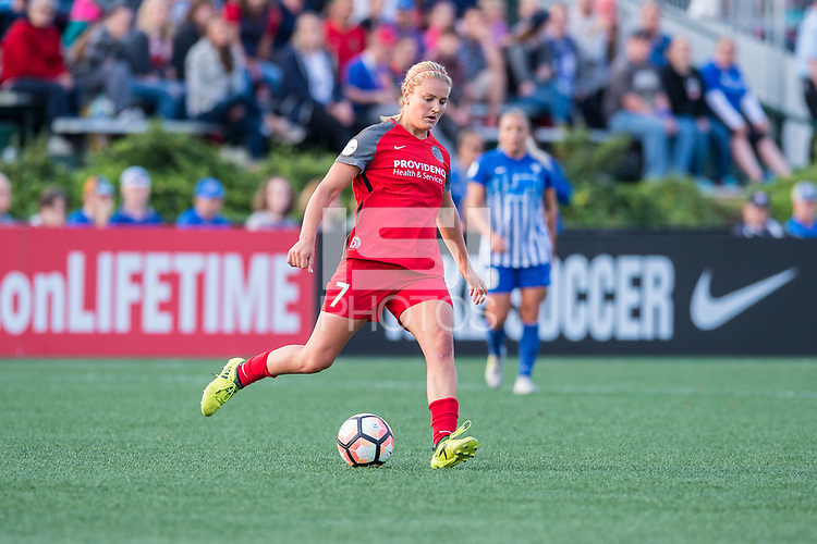 Boston, MA - Sunday September 10, 2017: Lindsey Horan during a regular season National Women's Soccer League (NWSL) match between the Boston Breakers and Portland Thorns FC at Jordan Field.