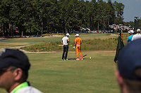 PINEHURST, NC - JUNE 15: Kaymer and Fowler chat while waiting to tee off on three. Scenes from the U.S. Open Championship at Pinehurst, North Carolina on Sunday, June 15, 2014. (Photo by Landon Nordeman)