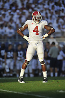 10 September 2011:  Alabama S Mark Barron (4). The Alabama Crimson Tide defeated the Penn State Nittany Lions 27-11 at Beaver Stadium in State College, PA..