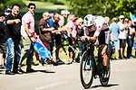 Pierre-Roger Latour (FRA) AG2R La Mondiale in action during Stage 4 of the Criterium du Dauphine 2017, an individual time trial running 23.5km from La Tour-du-Pin to Bourgoin-Jallieu, France. 7th June 2017. <br /> Picture: ASO/A.Broadway | Cyclefile<br /> <br /> <br /> All photos usage must carry mandatory copyright credit (&copy; Cyclefile | ASO/A.Broadway)