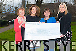 Staff from Killarney Community College presenting a cheque to SouthWest Counselling Centre in Killarney from a school fashion show fund-rasier. <br /> L-R Joanne Hughes, Marie Keane, Nikki Wissell (SouthWest Counselling) and Kerri McCarthy.