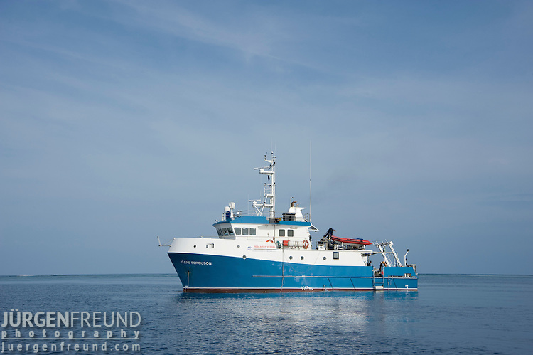 Research vessel Cape Ferguson at the far northern Great Barrier Reef