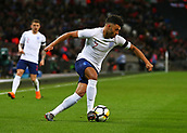 27th March 2018, Wembley Stadium, London, England; International Football Friendly, England versus Italy; Alex Oxlade-Chamberlain of England cuts inside on the ball