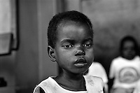 Children in a Red Cross day-care centre in Maputo, Mozambique on February 22, 2001. More than 13 million African children have been orphaned by the the AIDS pandemic..Worldwide, more than 20 million people have died since the first cases of AIDS were identified in 1981.