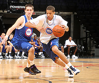 Michael Carter Williams at the NBPA Top100 camp June 18, 2010 at the John Paul Jones Arena in Charlottesville, VA. Visit www.nbpatop100.blogspot.com for more photos. (Photo © Andrew Shurtleff)