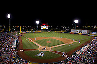 A view of Hammons Field during a game between the Corpus Christi Hooks and the Springfield Cardinals at Hammons Field on August 13, 2011 in Springfield, Missouri. Springfield defeated Corpus Christi 8-7. (David Welker / Four Seam Images)