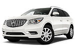 Low aggressive front three quarter view of 2013 Buick Enclave