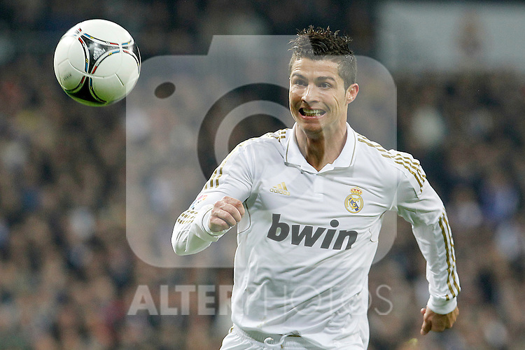 Real Madrid's Cristiano Ronaldo during Spanish King's Cup match.January 18,2011. (ALTERPHOTOS/Acero)
