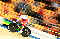 Picture by Alex Broadway/SWpix.com - 02/03/2018 - Cycling - 2018 UCI Track Cycling World Championships, Day 3 - Omnisport, Apeldoorn, Netherlands - Denis Dmitriev of Russia competes in the Men's Sprint Qualifying.