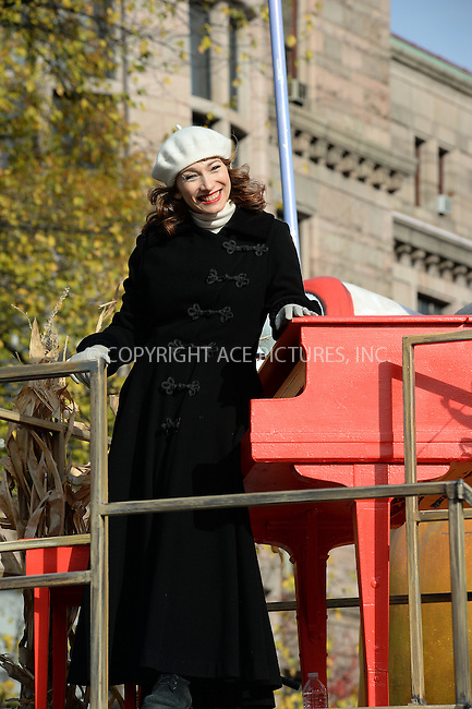 www.acepixs.com<br /> <br /> November 24 2016, New York City<br /> <br /> Regina Spektor made an appearance at the 90th Annual Macy's Thanksgiving Day Parade on November 24, 2016 in New York City.<br /> <br /> By Line: Kristin Callahan/ACE Pictures<br /> <br /> <br /> ACE Pictures Inc<br /> Tel: 6467670430<br /> Email: info@acepixs.com<br /> www.acepixs.com