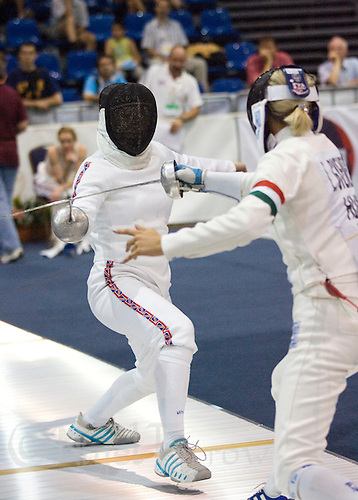 02 JUN 2008 - BUDAPEST, HUN - Mhairi Spence (GBR) - Modern Pentathlon Team Relay World Championships. (PHOTO (C) NIGEL FARROW)