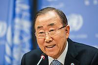 NEW YORK, NY, 16.12.2016 - ONU-BAN KI MOON - O secretário geral das Organizações das Nações Unidas (ONU) Ban Ki-moon durante coletiva de imprensa de encerramento do seu mandato na sede geral da ONU em New York nos Estados Unidos da América nesta sexta-feira, 16. (Foto: William Volcov/Brazil Photo Press)